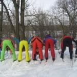 Радуга из лыжниц:)