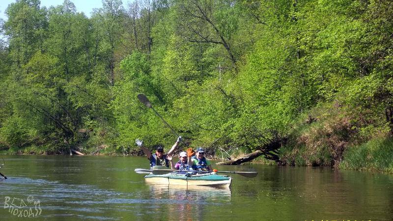 Сплав по реке Теша